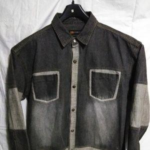 GODBODY Men's 1 Piece Vintage Black/Gray Jean